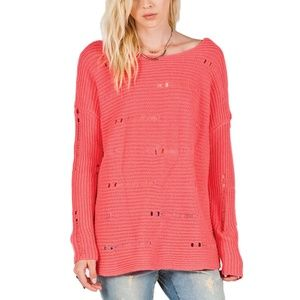 Volcom Easy Does It Coral Sweater